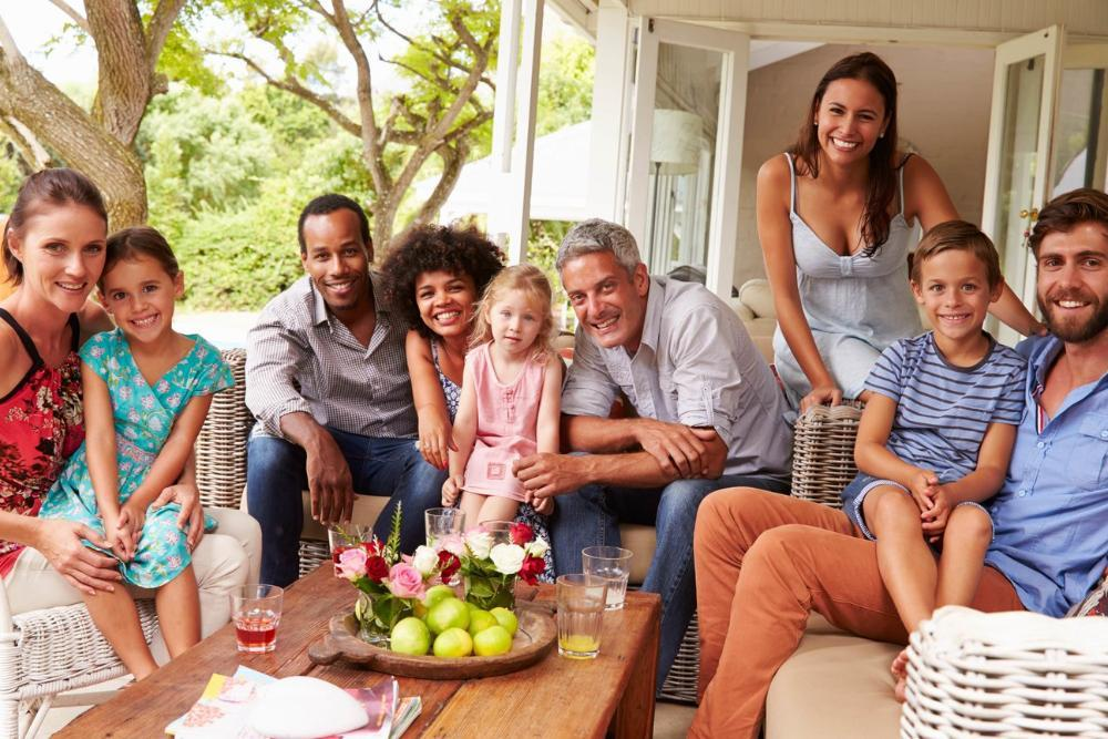 large family sitting outside | Family dentist vallejo ca
