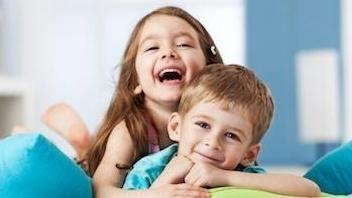 Two young kids smiling | Dentist Vallejo CA