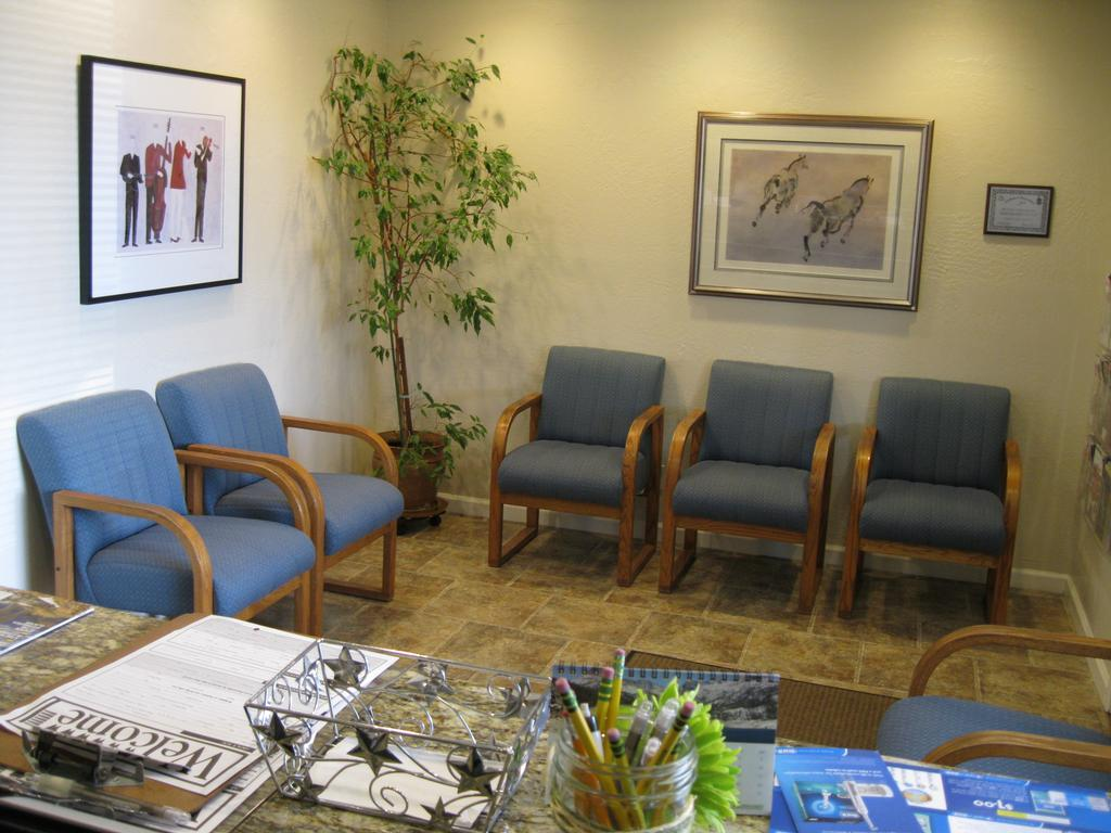 Waiting room with chairs | Vallejo CA Dentist
