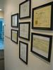 Wall with framed degrees and certificates | Vallejo CA Dentist