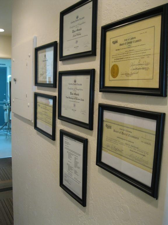 wall of dental accolades | Dentist Vallejo CA