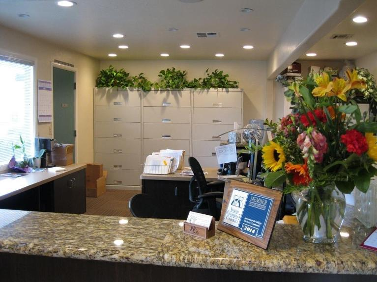 Front desk in vallejo dental office